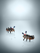 Y120907 Prints - Circuit Board Bugs Print by James Worrell