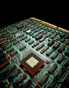 Circuit Photos - Circuit Board From A Mainframe Computer by David Parker