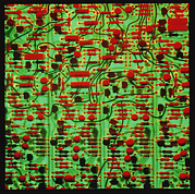 Electronic Photos - Circuit Board Showing Its Electronic Components by Damien Lovegrove