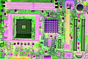 Processor Prints - Circuit Board Print by Victor De Schwanberg