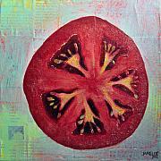 Circular Food - Tomato Print by Janelle Schneider