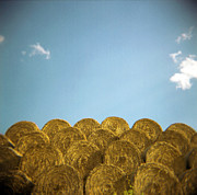 Large Group Of Objects Art - Circular Hay Bales by James Arnold