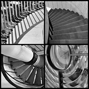 Staircase Railing Framed Prints - Circular Framed Print by Luke Moore