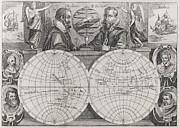 Spice Route Framed Prints - Circumnavigators, 16th To 17th Century Framed Print by Middle Temple Library