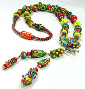 Handmade Necklace Jewelry - Circus by Barbara Berney
