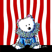 Westie Terrier Prints - Circus Clown Westie IV Print by Kim Niles