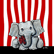 Whimsy Mixed Media - Circus Elephant by Kim Niles