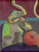 Circus. Paintings - Circus Elephant with Ball by Hillary McAllister
