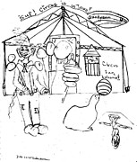 Cotton Drawings Prints - Circus Fun Print by Thelma Harcum
