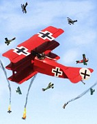 Luftwaffe Digital Art - Circus of Death by Garry Staranchuk