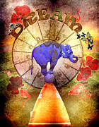 Elephant Digital Art Posters - Circus of Dream Poster by Andrea Lantos