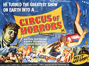 Ad Art Framed Prints - Circus Of Horrors, Anton Diffring Left Framed Print by Everett