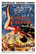 1960 Movies Prints - Circus Of Horrors, Poster Art, 1960 Print by Everett