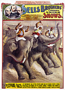 Turban Framed Prints - CIRCUS POSTER, c1890 Framed Print by Granger