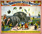 1899 Framed Prints - CIRCUS POSTER, c1899 Framed Print by Granger