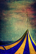 Grungy Posters - Circus with distant ships II Poster by Silvia Ganora