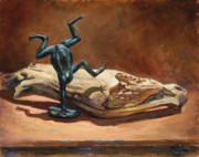 Billie Colson Paintings - Cirque de Frog by Billie Colson
