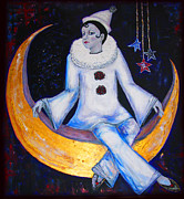 Ruff Painting Originals - Cirque De La Lune by Barbara Jean Lloyd