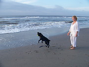 Cisco Framed Prints - Cisco and I on Folly Beach Framed Print by L Jaye  Bell