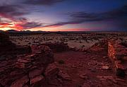 Desert Metal Prints - Citadel Sunset Metal Print by Mike  Dawson