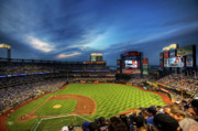 Diamond Framed Prints - Citi Field Twilight Framed Print by Shawn Everhart