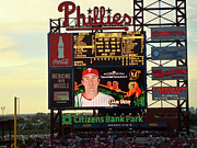 Chase Utley Metal Prints - Citizens Bank Park 2 Metal Print by See Me Beautiful Photography