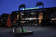 Phillies Acrylic Prints - Citizens Bank Park Acrylic Print by Andrew Dinh