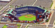 Aerial Photograph Framed Prints - Citizens Bank Park Phillies Framed Print by Duncan Pearson