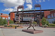 Phillies Acrylic Prints - Citizens Park 2 Color Acrylic Print by Jack Paolini