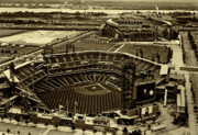 Baseball Stadiums Originals - Citizens Park and The Link by Jack Paolini
