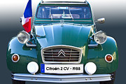 Past Times Framed Prints - Citroen 2 CV - France Framed Print by Heiko Koehrer-Wagner