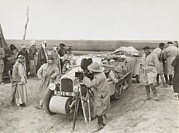 Baghdad Framed Prints - Citroen-haardt Expedition Filming Framed Print by Maynard Owen Williams
