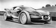 Concept Cars Drawings - Citroen Survolt by Lyle Brown