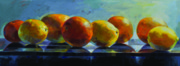 Blue Grapes Painting Posters - Citrus Poster by Penelope Moore