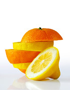 Dieting Posters - Citrus Slices Poster by Carlos Caetano