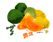 Citrus Digital Art Prints - CitrusFruit Print by Anthony Caruso
