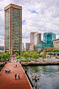 Skylines Art - City - Baltimore MD - Harbor Place - Baltimore World Trade Center  by Mike Savad