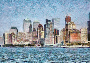 City - Ny - Manhattan Print by Mike Savad
