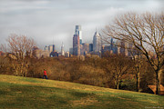 Skylines Photos - City - Philadelphia PA  - The city of Philadelphia  by Mike Savad