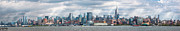 City Skylines Framed Prints - City - Skyline - Hoboken NJ - The ever changing skyline Framed Print by Mike Savad