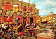 Vegas Photos - City - Vegas - Cesars - Lunch in Italy by Mike Savad