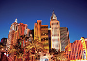 Vegas Photos - City - Vegas - NY - The New York Hotel by Mike Savad