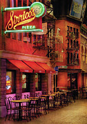Purple Awnings Prints - City - Vegas - The Pizza Joint Print by Mike Savad