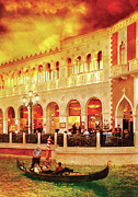 Singing Acrylic Prints - City - Vegas - Venetian - Life at the Palazzo Acrylic Print by Mike Savad