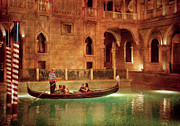 Gondola Art - City - Vegas - Venetian - The Gondolas of Venice by Mike Savad