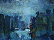 City Scape Paintings - City 1  by William Worcester