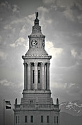 Architectural Style Prints - City and County of Denver building Print by Christine Till