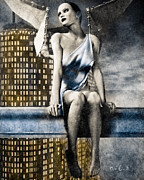 Angel Mixed Media Posters - City Angel -2 Poster by Bob Orsillo