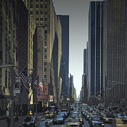 Manhattan Prints - City-Art 6th Avenue NY  Print by Melanie Viola