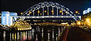 Bridge Drawings Prints - City at Night Print by Svetlana Sewell